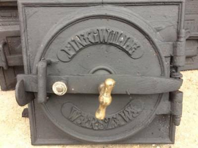 Vintage iron fire door clay / bread oven / pizza stove / smoker-