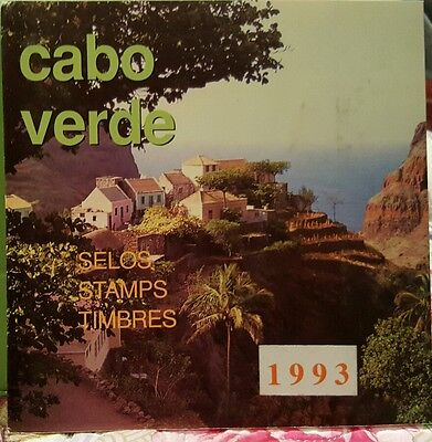 Cape Verde stamp year book 1993  20 stamps sealed ,