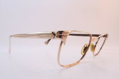 Vintage 50s gold filled eyeglasses frames American Optical 1/10-12K 46-22 USA