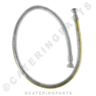 "1/2"" BSP 1000mm FEMALE FLEXIBLE GAS HOB COOKER CONNECTOR HOSE LPG NAT 1M"