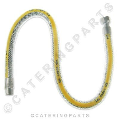 "1/2"" BSP 750mm MALE FEMALE FLEXIBLE GAS HOB COOKER CONNECTING HOSE LPG NAT 0.75M"