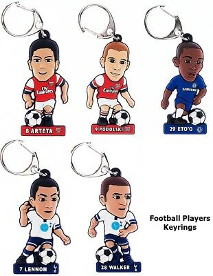 Football Club 2D Player Keyrings Arsenal FC Chelsea FC Tottenham Hotspur FC