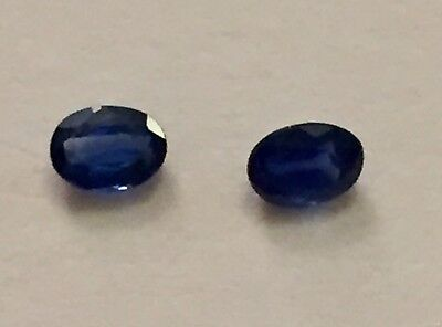 2 x Sapphire Gemstone Oval Faceted 4 X 3 mm Natural Sapphire Loose Gemstones