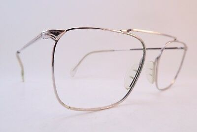 Vintage 60s eyeglasses frames white gold filled MARWITZ OPTIMA 54-16 Germany