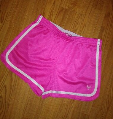 EUC Justice Girls Mesh Shorts Pink Size 12 Active