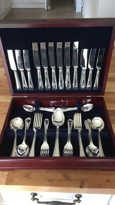 C.L Pinder 8 Place EPNS A1 Canteen Of Cutlery Silver Plated 60 Piece