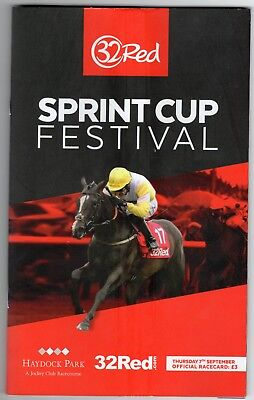 Haydock Park Race Card (book) Thursday 7 September 2017 Sprint Cup R39460