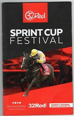 Haydock Park Race Card (book) Thursday 7 September 2017 Sprint Cup R39461