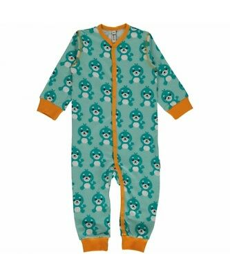 NEW Maxomorra Long Sleeved Button Romper Suit, Seal, Free Delivery