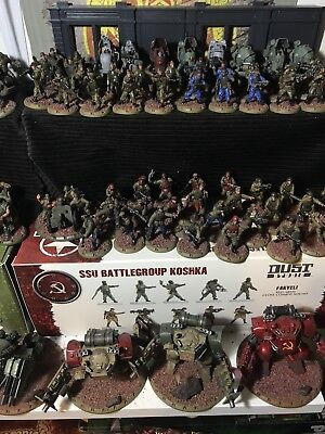 Dust Tactics Large Painted SSU Army