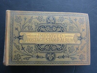 1897 IMPROVED STAMP ALBUM - 13th EDITION -  WITH ORIGINAL COLLECTION WITHIN