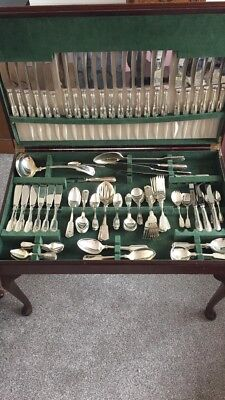 152 Piece 12 Place Setting Canteen Of Cutlery Silver Pated EPNS A1