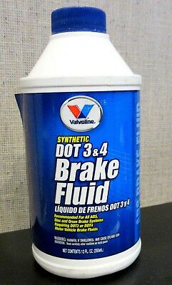 Valvoline DOT 3 and 4 Synthetic Brake Fluid 12 oz.  601457