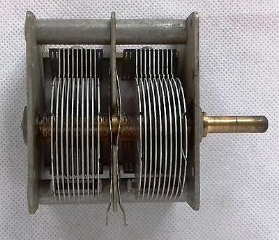 Air Variable Capacitor 2x 430 pF double gang - Vintage Tube Radio broadcast /10