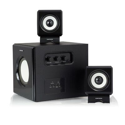 N CUBE PRO BLUETOOTH 2.1 STEREO SPEAKERS WITH CONTROL PANEL REMOTE for PC FILMS