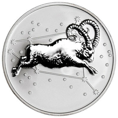 2015 Tokelau Creatures of Myth Aries 1 oz Silver Reverse Proof $5 Coin SKU34446