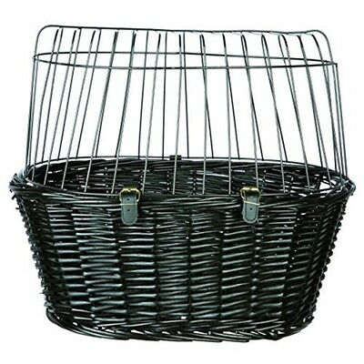 Trixie 2818 Bicycle Basket With Grille 50 × 41 × 35cm - 35cm Black Front Dog