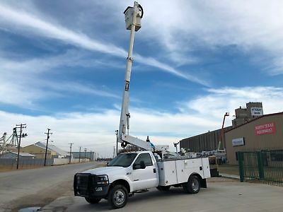 Ford F450 Bucket Truck Telescopic Boom New Engine Runs Great No Issues 2004 2005
