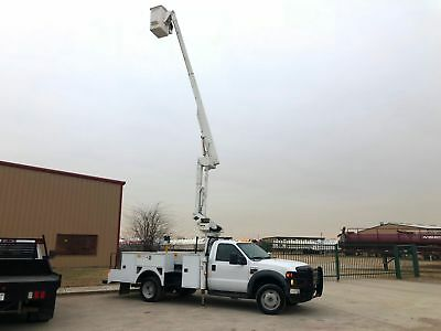 Ford F550 Bucket Truck 42 Foot Reach New Engine Diesel Articulating / Tele 2008