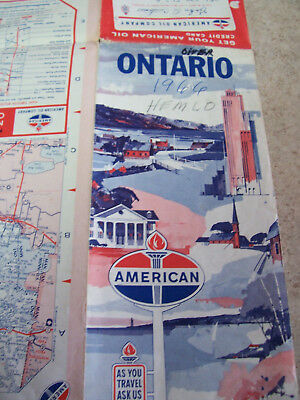 vintage map for ONTARIO 1966 BY Standard OIL found in a estate