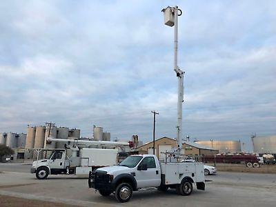Ford F550 Bucket Truck Diesel Eti Utility Bed Altec Under Cdl 40 Foot 2008 2009