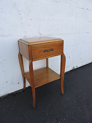 Mid Century Deco Nightstand Side End Table by RWAY 7015