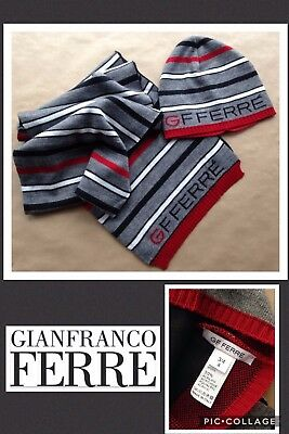 Designer Gianfranco Ferre' Rrp;£69 Hat & Scarf Set *bnwot* Wool Mix Age 3-4 Yrs