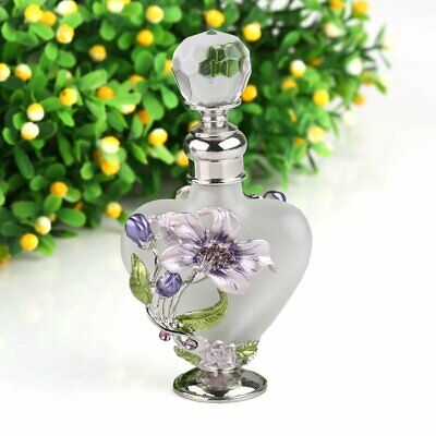 5ml Empty Lily Flower Glass Crystal Metal Perfume Bottles Wedding Lady Gift