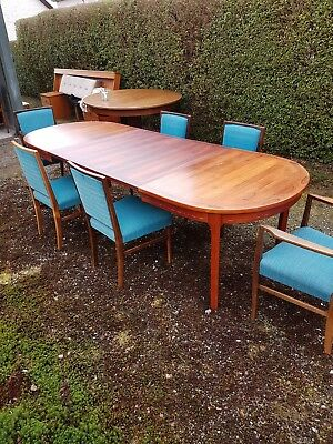 nils jonsson rosewood table and chairs