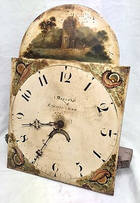 Antique Long Case Grandfather Clock Dial And Movement Samuel Birley Birmingham