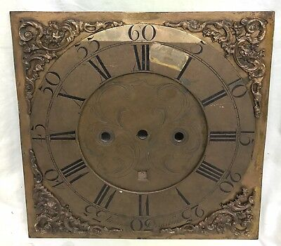 Lovely Antique Long Case Grandfather Clock Brass Dial Atkinson Ormskirk