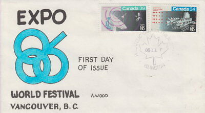 Canada #1078-1079 Expo 86 First Day Cover