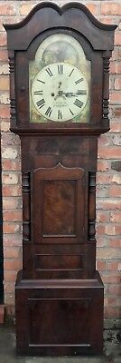 Antique Mahogany Long Case Grandfather Clock By G TOPHAM Congleton