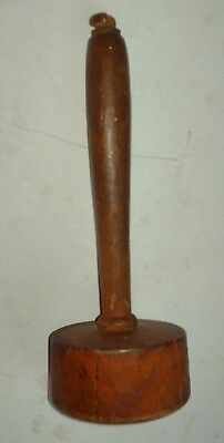Antique Wooden Auctioneers Gavel Pestel Vintage Wood Treen
