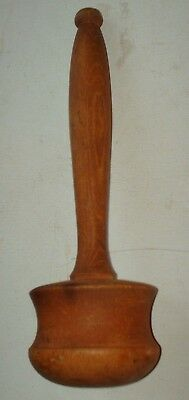 Large Garlic Crusher Antique Wooden Auctioneers Gavel Pestel Vintage Treen
