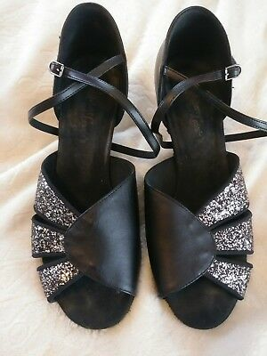Robert & Lonnie's Women's Strappy Ballroom Dance Shoes Size 9