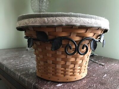 Longaberger Wrought Iron Wall Vase Basket & Rack Combo