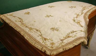 Antique French Embroidery Grand Piano Cover, very rare item