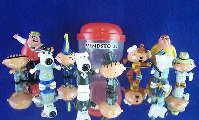 New Retired Family Guy Figure Figurine Set Of 10 With Peter & Stewie Griffin