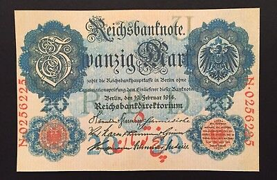Germany - 20 Reichsmark 1916 Persian Overprint Reproduction