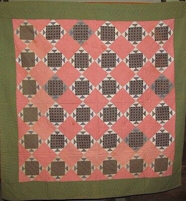 Antique Hand Stitched Quilt New England Estate 1860-1890 Preserved Beauty!