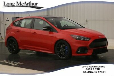 """2018 Ford Focus RS SPECIAL EDITION AWD 6 SPEED ECOBOOST HATCHBACK MSRP $44737 BLACK PAINTED ROOF RS UNIQUE BLACK REAR SPOILER 19"""" FORGED ALLOY WHEELS"""