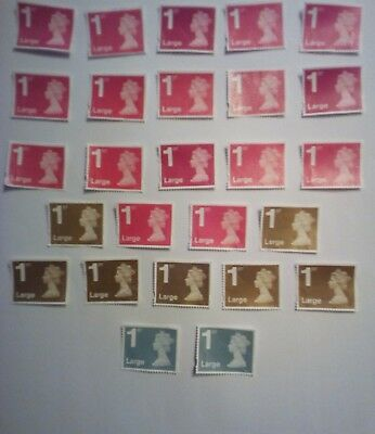 26 1St Class Secure Large Letter 17Red 7Gold 2 Silv Unfranked  Off Pap Stamps