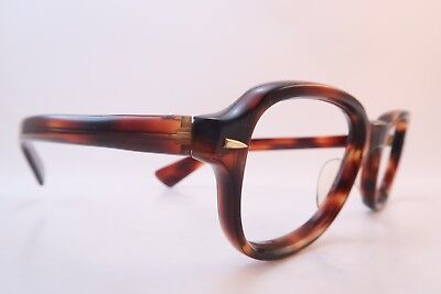 Vintage 60s brown 6mm acetate eyeglasses frames 48-22 men's MED women's MED/LAR