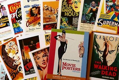 "Lot Film Poster AK ""Movie Posters Postcards""  The Museum of Modern Art ,NEW YORK"