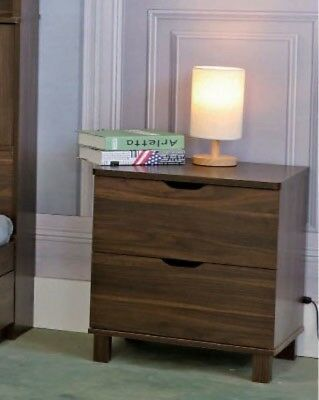 Y1503 Smart Home Dark Walnut Nightstand
