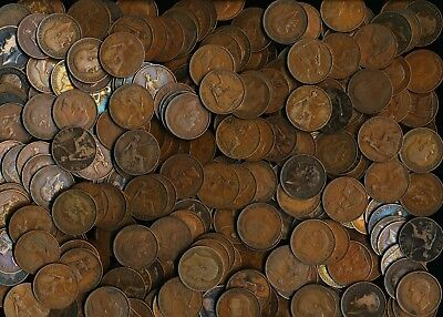 245 OLD BRITISH PENNIES EARLY HALF 1900's (HUGE COPPER LOT MUST SEE)> NO RESERVE