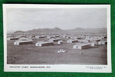 Cape Province   Military   Infantry Camp   South Africa   Rp  Vintage Postcard
