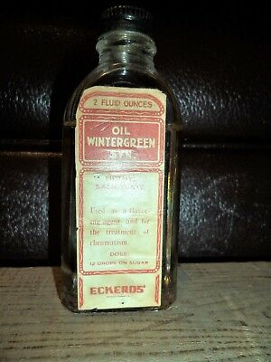 Antique Medicine-Bottle Eckerd Drugs  Pharmacy Apothecary M.Salicylate CURE Full