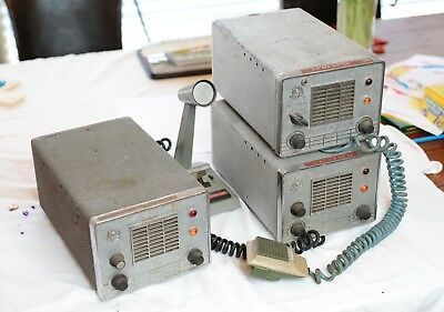 Lot of 3 Johnson Viking Messenger Tube Type Vintage CB Radio's - Parts / Repair